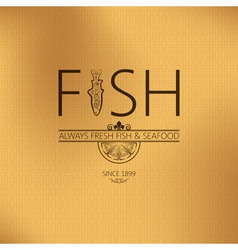 fish seafood background vector image