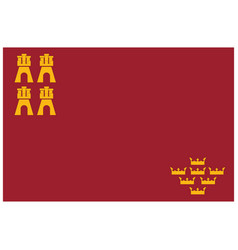 flag of murcia autonomous communities of spain vector image