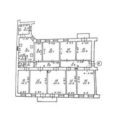 floor plan drawing on vector image