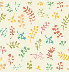 Floral seamless pattern with leaves and vector