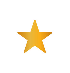 gold star icon eps10 gold star metal gradient sign vector image
