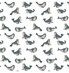 gray seals on transparent background pattern vector image