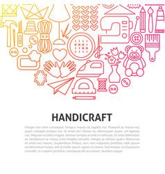 Handicraft line concept vector