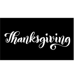 happy thanksgiving day poster with hand drawn vector image
