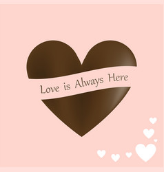 happy valentines day stylish chocolates heart vector image