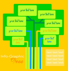 Infographic tree template vector