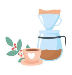 International day coffee machine maker vector