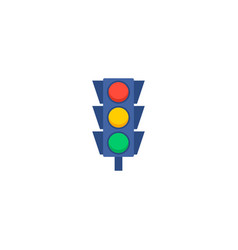 light traffic icon flat element vector image