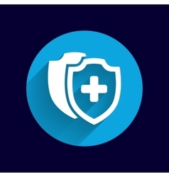 Medical Shield Icon shield flat health vector image