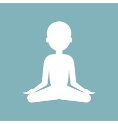 Meditation Man Icon vector image
