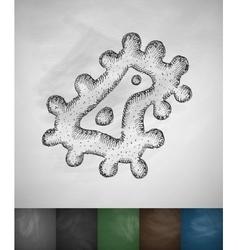 Microbe icon vector