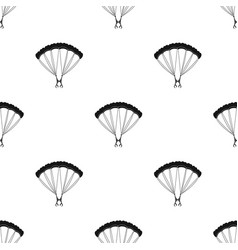 Parachutingextreme sport single icon in black vector