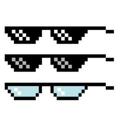 Pixel glasses set vector