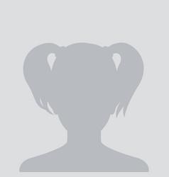 Profile placeholder female avatar vector