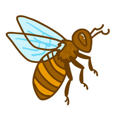 queen bee icon hand drawn style vector image