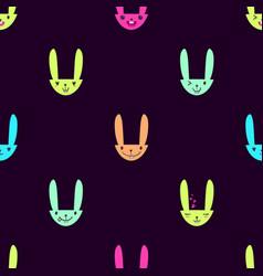 Rabbit emoticons pattern-16 vector