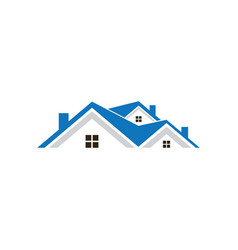 roof home business finance logo vector image