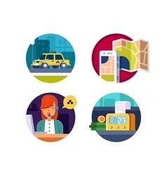 Service taxi concept vector image