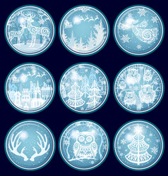 set merry christmas and new year decorations vector image