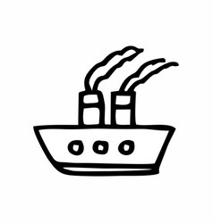 Ship freehand vector