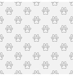 Simple dog paw pattern vector image