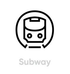 subway icon metro mass rapid transit public vector image