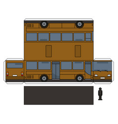 The simple paper model of a brown bus vector