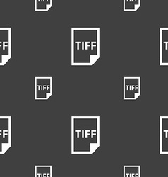 TIFF Icon sign Seamless pattern on a gray vector