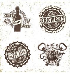vintage beer logo design vector image
