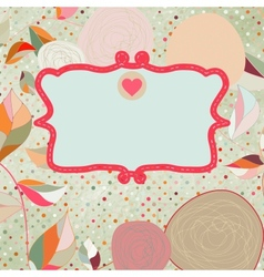 Vintage style background with flowers EPS 8 vector image