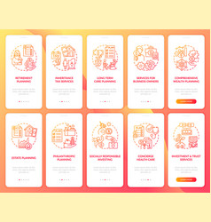 Wealth manage onboarding mobile app page screen vector