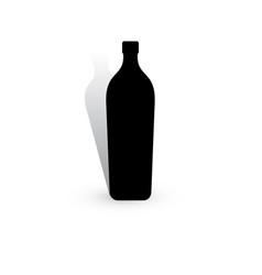 Wine bottle icon vector