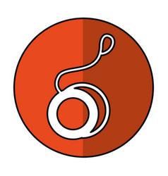 Yoyo toy isolated icon vector