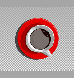 a red cup vector image vector image