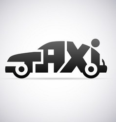 Automobile taxi logo design template vector image vector image