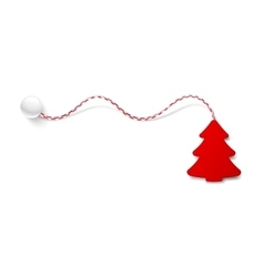 Christmas tree red color vector image vector image