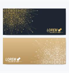 modern set of ornate horizontal cards in oriental vector image vector image