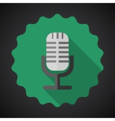 Music Mic Microphone Flat Icon vector image vector image