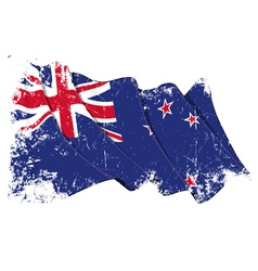 New Zealand Flag Grunge vector image vector image