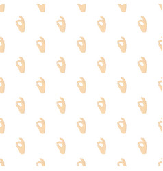 ok sign pattern vector image vector image