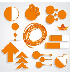 Set of business infographic elements vector image vector image