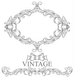 Vintage form vector image vector image