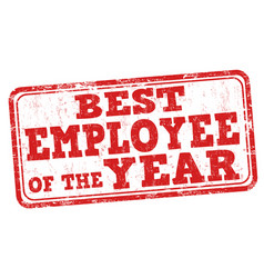 best employee of the year stamp vector image