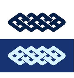 celtic knot - decorative pattern vector image
