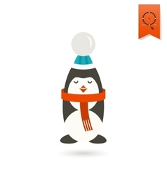 Christmas Penguin Colorful vector image