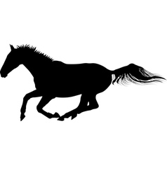 galloping horse silhouette vector image vector image
