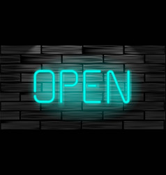 open realistic neon inscription light sign on vector image