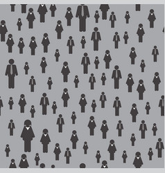 People icon seamless pattern vector
