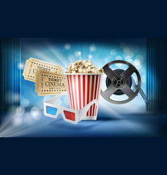 cinema background concept 3d vector image vector image