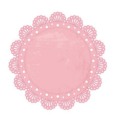 pink napkin vector image